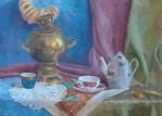 Беляков Иван. Натюрморт с самоваром, 40х60, бумага, гуашь. Преп. Костыгина О.В.